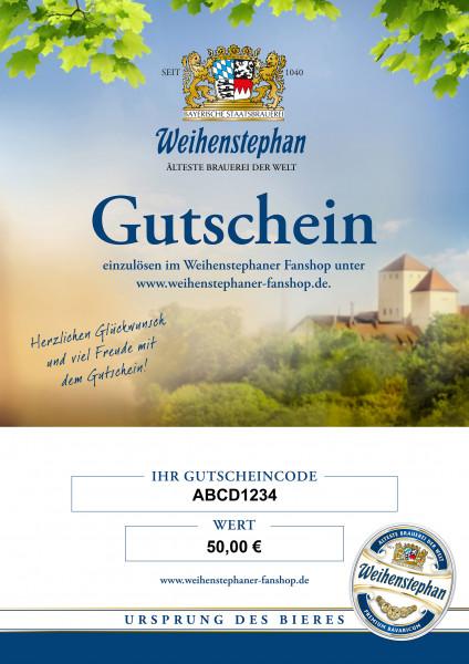 Weihenstephan Fanshop Gutschein 50 Euro
