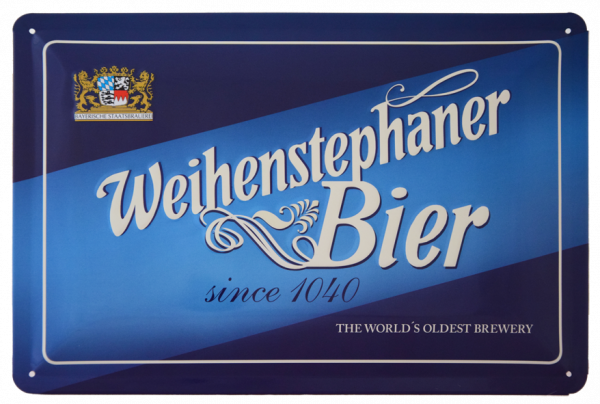 "Weihenstephan Iron Sheet Sign ""Lettering"""