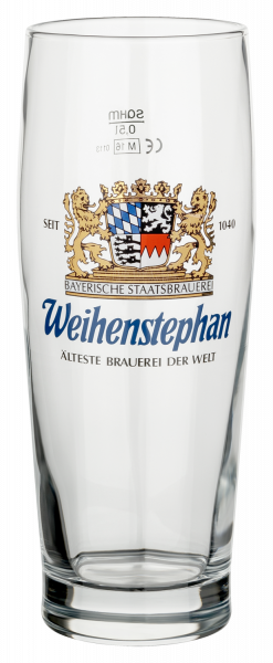 "Weihenstephan Beer Glass ""Trumpf"" 0,5 l"
