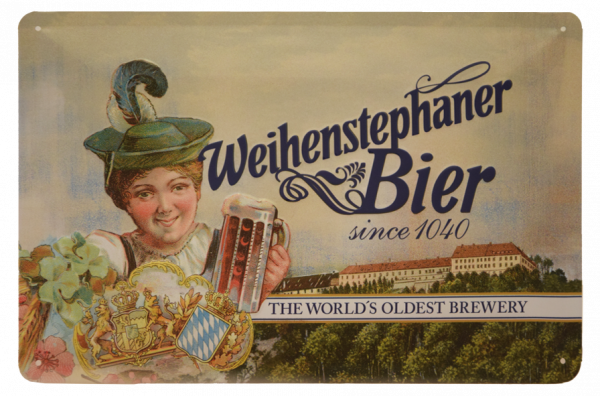 "Weihenstephan Iron Sheet ""Lady with a mug"""