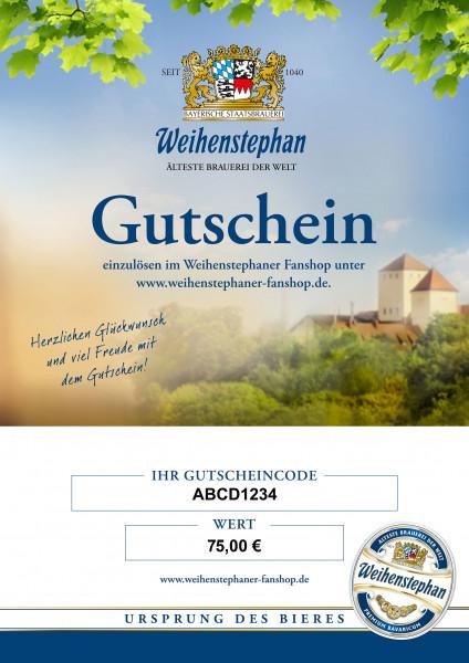 Weihenstephan Fanshop Gutschein 75 Euro