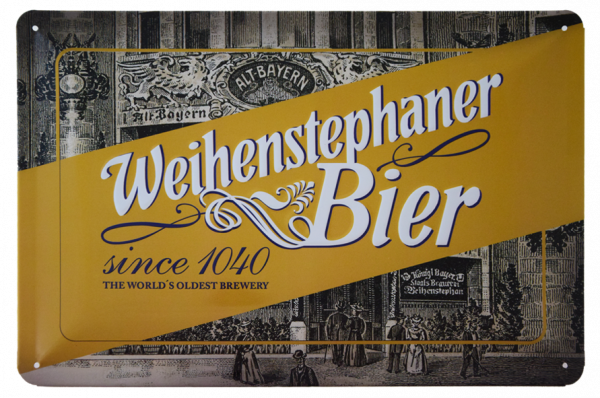 "Weihenstephan Iron Sheet Sign ""Altbayern"""